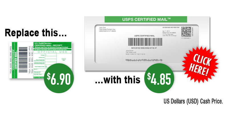 Usps Certified Mail Rates 2020 Certified Mail Labels Costs