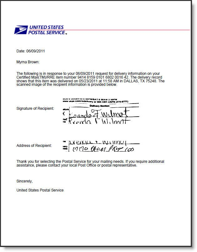 Why Would The Irs Send A Certified Letter.How Does Return Receipt Electronic For Usps Certified Mail